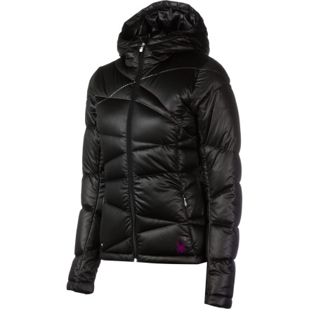 When a solid layer of frost covers your bedroom window, cover up with the Spyder Women's Chrono Down Jacket before you take your husky for a walk. Packed with low-loft 700-fill goose down insulation, the Chrono keeps you toasty and comfortable as you navigate through a field of freshly fallen snow and play catch with your pup. - $251.27