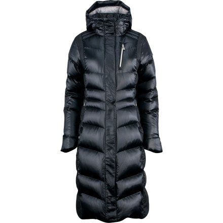 Slip the Spyder Women's Zen Down Jacket over your flannel or sweater and discover a new level of warmth-induced understanding when you brave frigid temperatures. A quality, durable outer shell with Xt coating and Spylon+ DWR fends off lightly falling flakes and melting icicles, while its head-to-knee length and 550-fill down insulation provide cozy warmth. - $209.27