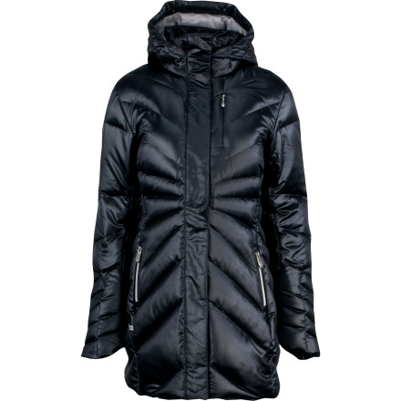 Wrap yourself in exceptional warmth with the Spyder Women's Raven Down Jacket. A Spylon+ DWR Xt coating sloughs light moisture while 550-fill down leaves the cold out in the, well, cold. - $131.42