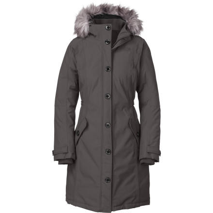 The North Face Women's Tremaya Parka features 550-fill down insulation and waterproof breathable HyVent 2L fabric to shield out snowy wet weather and ensure you stay toasty while you make your way to the Ice Bar to grab a martini. - $272.97