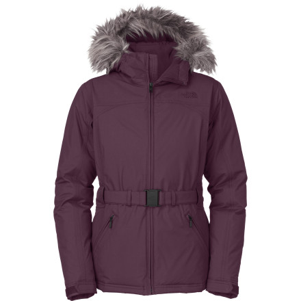Believe it or not, The North Face Women's Greenland Down Jacket not only looks flattering but also protects you from the elements with toasty down insulation and a waterproof breathable shell fabric. More suited for the street than the slopes, this casual-meets-technical piece has been updated with a waistbelt. - $188.97