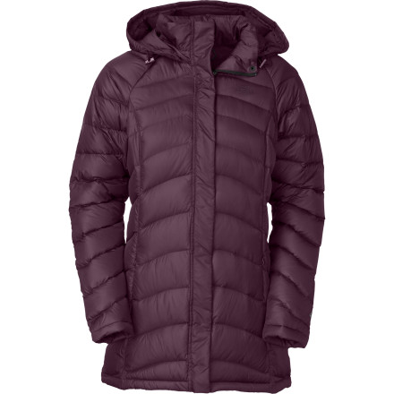Put on The North Face Women's Transit Down Jacket, lace up your skates, and enjoy an afternoon in the park with friends while you stay toasty amid the cold January air. 600-Fill goose down insulation curbs frigid nights while you stroll along your favorite mountain town streets or grab a hot toddy from the wine bar. - $175.47