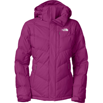 Hunting Don't worry; The North Face Women's Amore Down Jacket won't make you look like an overstuffed turkey this winter on the slopes. Instead, it offers a flattering, slim silhouette that's sure to get you noticed. - $188.97