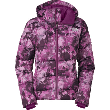Ski Make an impression both on and off the slopes thanks to the eye-catching camo print that graces The North Face Women's Destiny Down Novelty Jacket. The 550-fill down insulation keeps you toasty and warm, and its recycled taffeta lining slides easily over your baselayer or sweater. - $124.48