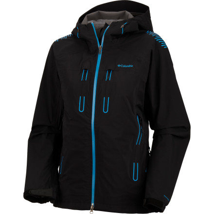 As you unzip the hand pocket on the Columbia Women's Peak Power II Jacket for one last shot from the summit before the return trip on the trail, the rain starts to fall. It may be a long way down, but thanks to the Peak's 20K-rated fabric and fully taped seams, you stay well-protected from the elements as you wind your way down the seven miles to the trailhead. - $174.98