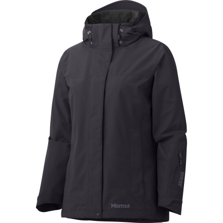 The Marmot Womens Palisades Jacket offers complete waterproof breathable protection thanks to its fully seam-taped Gore-Tex Performance shell. Marmot has updated the Palisades with a new, longer front zip that enhances its zip-in compatibility, so you can beef up the jacket when the weather gets truly gnarly. - $144.98