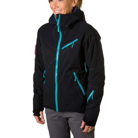 Outside it's a bitterly-cold and brutally-wet storm day in November, but beneath Stoic's cream-of-the-crop Women's Bombshell Insulated Jacket, it's just another day in paradise. Its flexible and slightly stretchy, three-layer Bombshell material keeps you bone dry and moving freely, while Cirrus synthetic insulation provides toasty warmth without extra bulk. Stomp out a skin track or charge up a bootpack and escape from the stifling feeling of sweaty vapors thanks to highly-breathable shell fabric and easy-to-reach underarm vents. Supremely durable, fully-welded construction and a streamline fit complete the package. As the flagship in Stoic's line of women's winter outerwear, the Bombshell balances ultimate comfort with uncompromising weather protection. - $180.95