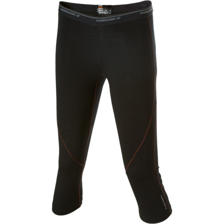 "Fitness The morning feels extra chilly, so you may need to pull on the Icebreaker Womens GT 200 Pace Legless Bottom capri under your snow pants before heading for the hills. This three-quarter-length legging is crafted from lightweight, 200-gram merino wool, which provides excellent breathability and warmth without weight. Merinos natural odor-fighting properties minimize the ""ick"" factor at the end of the day, and smooth seams glide easily under your other layers. A touch of Lycra ensures a trim, athletic fit; along with the gusseted crotch, it also allows total freedom of movement. - $26.99"