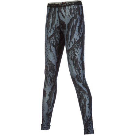 Ski Stay comfortable, warm, and dry when you wear the Icebreaker Women's BodyFit 200 Ice Camo Leggings beneath your shell pants while you ski, tour, mountaineer, or build a snowman with the kids. - $58.47