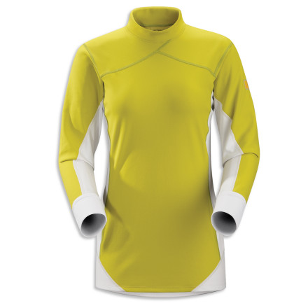 When engine-block-freezing temperatures come to the valley, you know you'll need to wear the heavyweight Arc'teryx Women's Phase SV Comp Top as a baselayer to fend off freezing once you get into the mountains. Its thick Phasic SV fabric locks in your body heat where it counts, while the stretchy, breathable Phasic AR fabric moves excess heat and moisture out to keep your interior atmosphere comfortable and less susceptible to chills. - $39.48