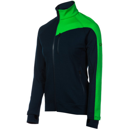 Ski Synthetic midlayers can look and feel a little too 'techy' to be worn alone, but the Icebreaker Women's Full-Zip Top feels like a little slice of heaven and looks like a million bucks all by itself. Zip up this stretchy midlayer for a cold night on the town or when you need a little extra insulation underneath your ski-touring shell jacket. - $120.97