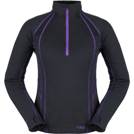 Ski Whether you wear it beneath outerwear on super-cold ski days or on its own for sunny-but-chilly hikes, the Rab Women's MeCo 250 Zip Top provides the warmth, softness, and moisture control you require. The heavyweight blend of merino wool and sustainable Cocona polyester brings the heat when mid-winter weather settles in. - $82.47