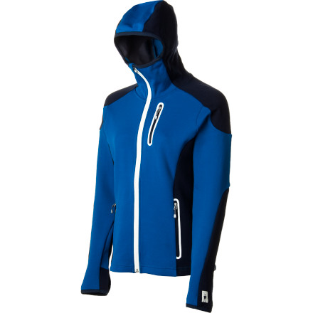 Fitness A midlayer to meet your every need: the superwarm and stretchy SmartWool Women's PhD HyFi Full-Zip Hooded Top breathes beautifully, fits ergonomically, and stays fresh when you can't bear to take it off for laundry day. An ample hood and sleeves with thumbholes keep you covered on wind-whipped slopes or chilly walks in the shade. Wear it alone on a cool-weather run or high-output cross-country tour. - $115.47