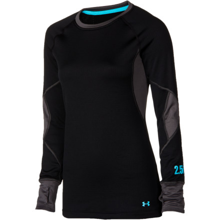 Fitness Under Armour created its Womens Basemap 2.5 Crew with strategically placed fabrics so you can stay warm on the coldest days on the mountains and at the same time stay comfortable when you're really working up a sweat attacking challenging runs. - $44.79