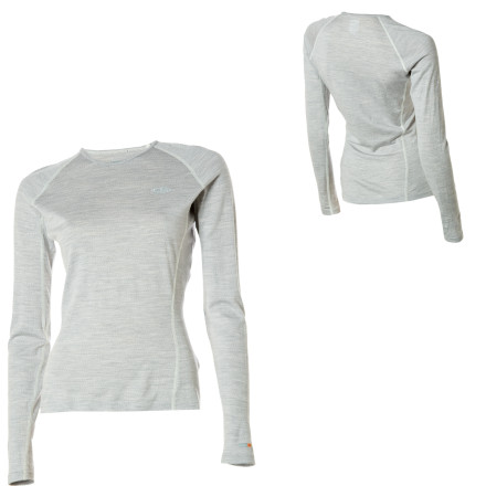 Superfine merino wool is the secret to the advanced performance of the Icbreaker BodyFit200 Oasis Long-Sleeved Crewe for Women. This soft, comfortable, eco-friendly fiber retains body heat but does not hold moisture or odor, making it suitable for a wide range of activities year-round. Raglan sleeves and flat-sewn seams in the side gusset allow you to move without constricting or chafing. - $79.95