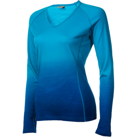 Ski The Icebreaker Women's BodyFit 200 Oasis Dusk V-Neck Long-Sleeve Top has way too long of a name, but that doesn't diminish its exceptional comfort and warmth while you hike, ski, tour, or mountaineer. This lightweight baselayer dries quickly and wicks moisture away so you stay ultra-cozy during your cool weather adventures. - $89.95
