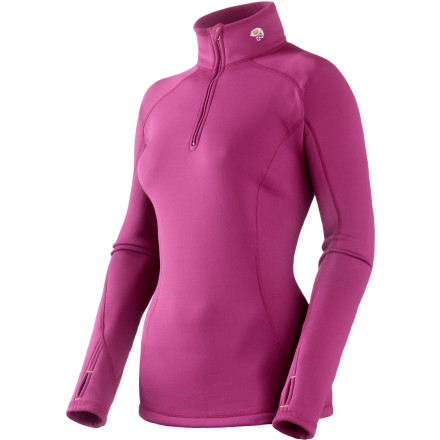 Climbing Why do I need the Mountain Hardware Women's Power Stretch Long-Sleeve Zip top, you ask' Whether you spend your personal time pounding out miles on the pavement, ascending thousands of feet up snow-covered mountains for the thrill of the descent, or grind through granite routes, this stretchy top is as versatile as you are. The quick-drying polyester material is fleece-backed, which not only provides incredible warmth, but also draws moisture away from your skin. Zip the eight-inch zipper down when your workout goes into overdrive and back up when the winter chill kicks in. - $28.49