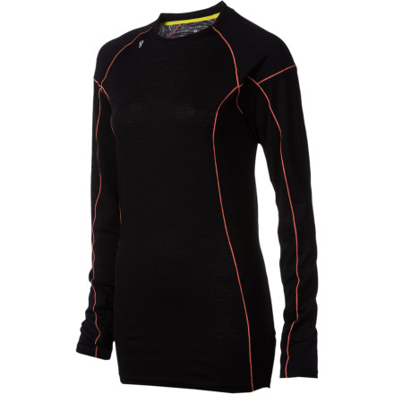 Camp and Hike Stoic used a blend of soft merino and quick-drying synthetic material so the Women's Alpine Merino 150 Crew Shirt is capable of keeping you warm and helping you control moisture when you're working up a sweat outside. Wear this baselayer for trail running, skiing, hiking, or camping. - $32.45
