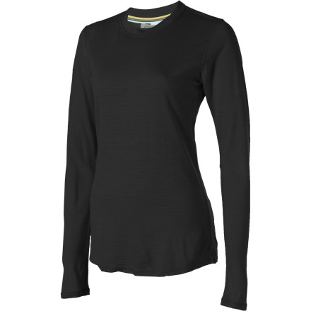 If you suddenly feel the overwhelming urge to wear the SmartWool Women's Microweight Crew Top every day don't be alarmedthese feelings are perfectly natural. The NTS's merino wool fabric wicks moisture, breathes well, and fights odor to keep you comfortable all day. - $41.22