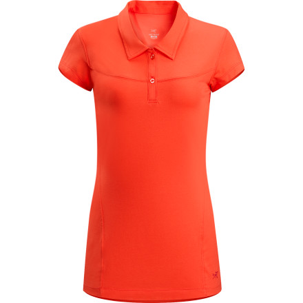 The Arc'teryx Women's Motive Short-Sleeve Polo combines a cotton exterior and polyester interior to give you a casual look with technical performance. Though it looks like a pretty straightforward polo shirt, the Motive's techy material helps it wick moisture quickly with a polyester interior, and its cotton exterior breathes marvelously to keep you more comfortable during hot summer days. - $29.48
