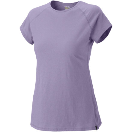 Sometimes you need hardcore tech. Sometimes you just really want a super-soft cotton T-shirt that is basic, versatile and easy to wear. The Mountain Hardwear Women's Nimba Short-Sleeve gives you exactly that. - $12.48