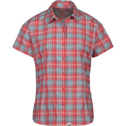 Camp and Hike The North Face must have had camping and rafting trips in mind when it created the Women's Boulder Penelope Short-Sleeve Woven Shirt. Boasting a quick-drying Supplex nylon/polyester fabric and classic roll-up sleeves, this shirt is one you don't want to leave out of your pack. - $41.97