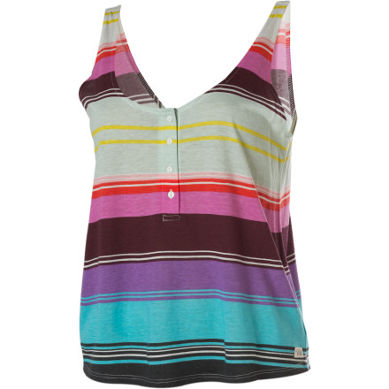 Surf It's time to up your summer fashion to a new level with the Billabong Women's Hey There Tank Top. - $11.78