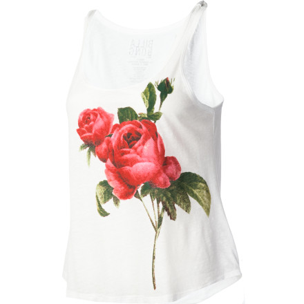 Surf Love is in the air, and now it can be on your shirt. The Billabong Women's Amour Amour Tank Top, an easy, breezy cotton and polyester tank, will last long and wear well for a long-term relationship with fun, nurturing fashion. - $16.84