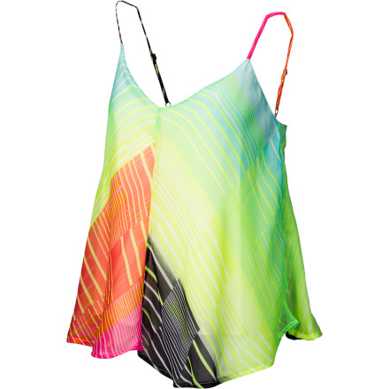 Surf The Billabong Breaker Tank Top's linear gradient print offers a fun, fresh take on classic cami comfort. - $39.45