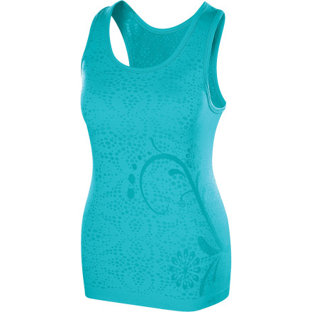 Climbing Climb into the Isis Women's Skyline Scoop Tank Top before you hit the trail. This technical top has a fun, whimsical look to keep you looking good and a technical design to keep you cool. Whether you're racking up miles trail running or exploring the world at a walk, this shirt will help you feel great. - $19.48