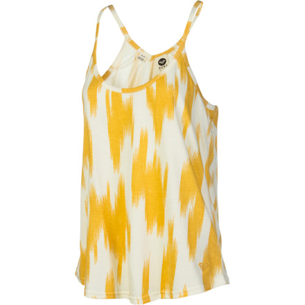 Surf On those days when the heat and humidity lay on the town like a hot, wet, blanket, pull on the Roxy Women's Breathtaking Tank Top and your shortest shorts before leaving the shelter of air conditioning. This breezy top cuts through the tropical atmosphere like a breath of fresh air. - $19.50