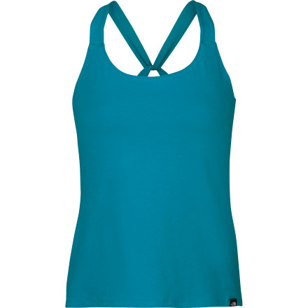 Climbing Whether you're spending the afternoon climbing, driving, or just kicking back in the front yard, The North Face Gentle Stretch Cami lives up to it's name. With a comfy cotton-and-elastane blend, the Gentle Stretch features a shelf bra for support and a UPF rating of 15 to keep you safe from harmful rays. - $14.98