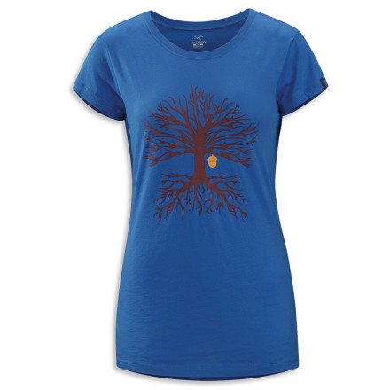 You head to your hot and muggy hometown to embrace your roots, but not before putting on the cotton Arc'teryx Women's Evolution Tree T-Shirt. - $38.95