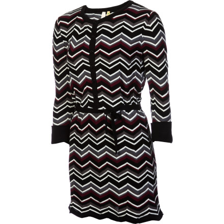Entertainment Silhouettes this season are long and lean, and the Aventura Women's Harlowe Tunic is right on-trend. Its extended lines are complemented by the fun chevron stripes that add color along with a bit of texture to the organic cotton knit fabric. - $45.07