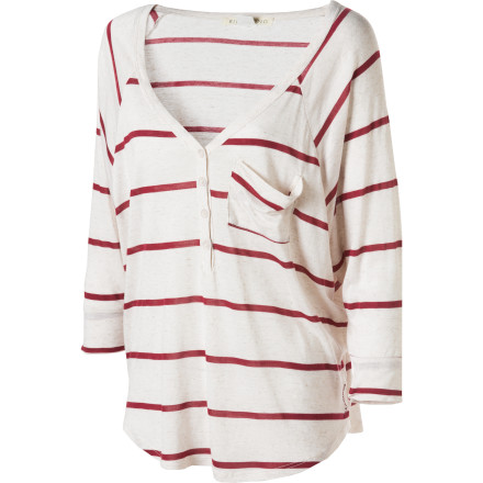 Surf Billabong On Radar Henley Shirt - Long-Sleeve - Women's - $30.56