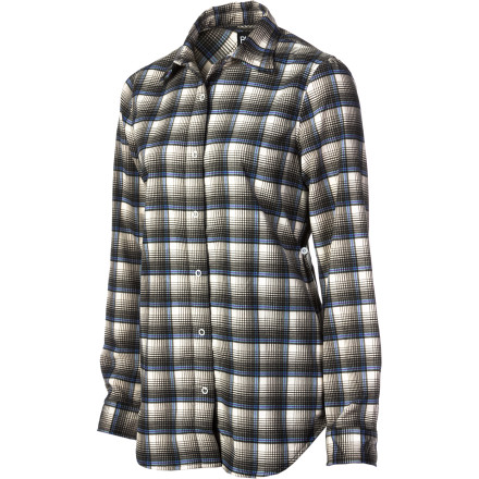 Snowboard The Burton Womens Blitz Flannel Shirt wicks, dries quickly, and breathes just like your performance baselayer, but looks like a flannel so you blend right in at the pub after a long day on the mountain. Burton also added anti-stink technology so you don't smell like you just came off the mountain, either. - $38.47