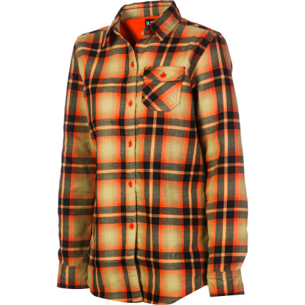 Snowboard Cotton flannel may be soft and comfy, but if you don't want to get stuck in a soggy shirt for hours after you come off the slopes, then sport the Burton Womens Player Flannel Shirt. The Player comes in the same plaid look you love (perhaps in way radder colors) but is made from the DryRide Ultrawick fabric for the performance you need. - $41.22