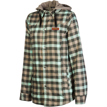You can never go wrong with a simple flannel shirt. That's why DC decided to take the traditional flannel look with the Woodbury Women's Flannel Shirt and add some tech to it to make it more functional for riding. 100% polyester fabric with a DWR treatment repels water so you don't get soaked after a couple runs, 40g insulation adds a little extra warmth for brisk days, and an internal media pocket helps you keep tunes going, whether you're lapping the park or just walking to class. - $46.00