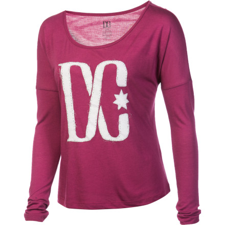 Kick back and relax in the DC Fabrik Women's Long-Sleeve Shirt. The cotton/rayon blend fabric has a plush feel for all-day comfort. - $16.80