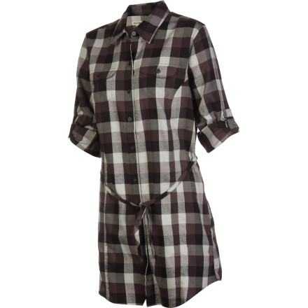 Sports Whether you're on a road trip up the coast of California or catching your son's baseball game, toss on the flattering ExOfficio Women's Pocatello Plaid Long-Sleeve Tunic. This tunic's classic fit offers you plenty of room to cheer for your kid's team and tons of comfort while you drive on Highway One overlooking the Pacific coast. - $38.47