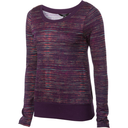 Surf The Hurley Women's Long-Sleeve Onyx Shirt has a relaxed, cozy look that makes it great for red-wine nights; you know, those times when you just want to pour a glass straight from the box and sit back with nothing to worry about except for reality television. But, this casual top also carries enough fashion-forward style to keep you looking good should you decide to trade your alone time for some social stimulation. - $27.62