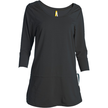 Despite your 'never say never' philosophy, you may find yourself calling for the Lole Neva 3/4-Sleeve Shirt again and again. The Neva's stylish tunic design is always in style, and the drawcord tunnel at the waist gives you multiple wearing options. In addition to timeless style, the Neva delivers serious performance thanks to its warm but lightweight Dri-release Merino fabric that wicks, breathes, and dries wicked fast. Lole topped it off with a Freshguard anti-odor treatment to keep you fresh whether you're touring a foreign city or dashing up and down the stairs at work. - $44.98