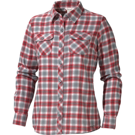 Fall brings out a palatable hurriedness in the wildlife and the hardwoods in the mountainsides. Feel your own response to the imminent arrival of winter when you button up the Marmot Women's Southshore Long-Sleeve Flannel and traverse the trails in the crisp air. - $41.22