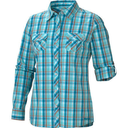 The Marmot Women's Addison Long-Sleeve Shirt has gone undercover, and is now a serious performance shirt masquerading as a laid-back flannel button-down. You can relax, knowing that this stretchy, wicking, breathable shirt has your back when you hit the trail or the hoedown. - $37.37