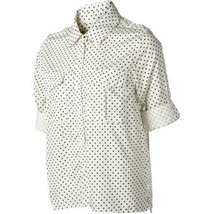 Skateboard A button-down shirt with carefree feel, the Nike Women's Killingsworth Shirt is anything but stuffy. Smooth, cool fabric plus roll-up sleeves and vented hem exudes a chill attitude with classic, no-fuss sensibility. And the polka dots are adorable. - $21.98