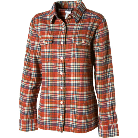 Camp and Hike Whether you're hanging at home on a rainy fall day or heading out for a mid-afternoon hike, the Patagonia Women's Fjord Flannel Shirt is game. Made with super-soft organic cotton, this laid-back flannel is softer than a chinchilla sneeze and easy on the environment. - $55.30