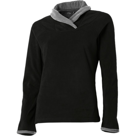 Sometimes all it takes is super-soft velvety fabric with a twist to turn a rough day around. The prAna Twisty Pullover Shirt uses its ultra-soft micro-thermal fleece and velvety-lined neck and cuffs to lull you into a good mood. The fitted upper and mid-hip length add a nice touch when you answer the doorbell and it turns out to be your cute next-door neighbor offering you home-baked cookies. - $41.97