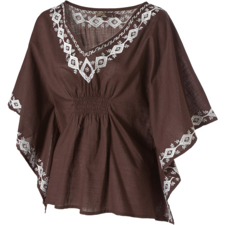 The prAna Women's Payton Long-Sleeve Top keeps you cozy while you drink a glass of wine and watch the sunset from your front porch. Its lightweight slub fabric drapes nicely down your body, while the Payton's smocking at front and back waist ensures it stays in place. Neckline and sleeve embroidery gives you a south-of-the-border feel when you take in the sun's warm rays. - $27.48