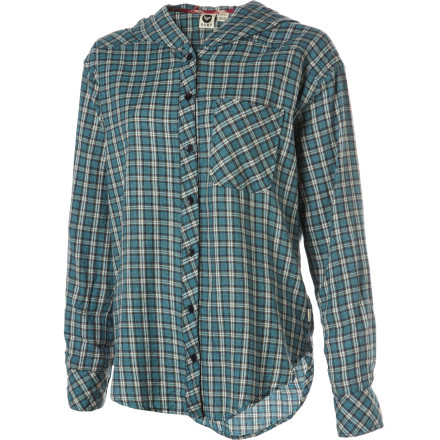 Surf Forget the '80s and bring back the Seattle grunge look with the Roxy Women's Foggy Shore Long-Sleeve Shirt. - $26.70