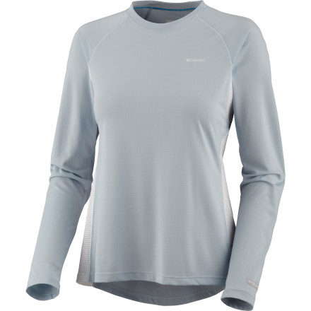 Camp and Hike The Columbia Women's Base Layer Insect Blocker Top is so lightweight and easy to wear when the weather heats up that it's almost like wearing nothing at all. But, unlike when you hike in the nude, you won't be a walking buffet for every mosquito that wants an easy meal. - $34.98